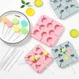 Silicone Shapes Fruits Animals Dinosaurs Hallows Lollipop Candy Chocolate Molds