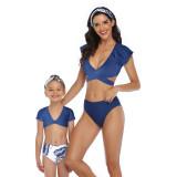 Mommy and Me Sports Print Leopard Print Bikini Sets Matching Swimwear