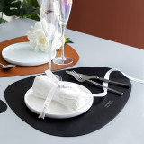 Tableware PU Leather Pad Placemat Heat Insulation Non-Slip Simple Placemats