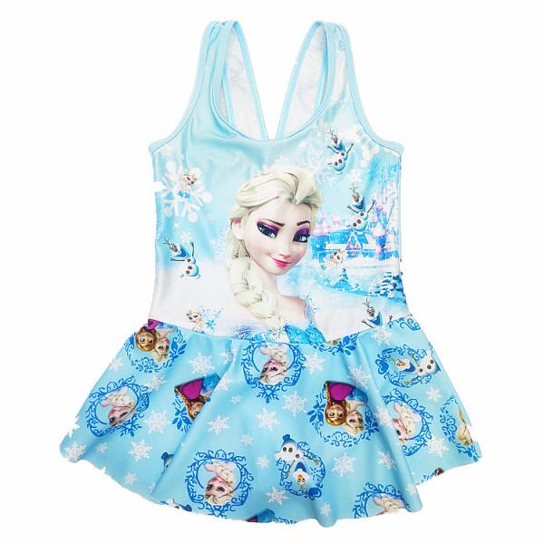 Toddle Kids Girls Frozen Princess Ruffles Swimsuit Swimwear