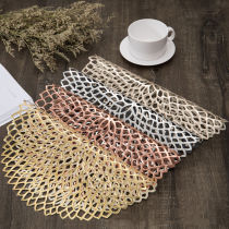 Hollow Out Waterproof Insulation Not-Slip PVC Placemats for Kitchen Dining Table