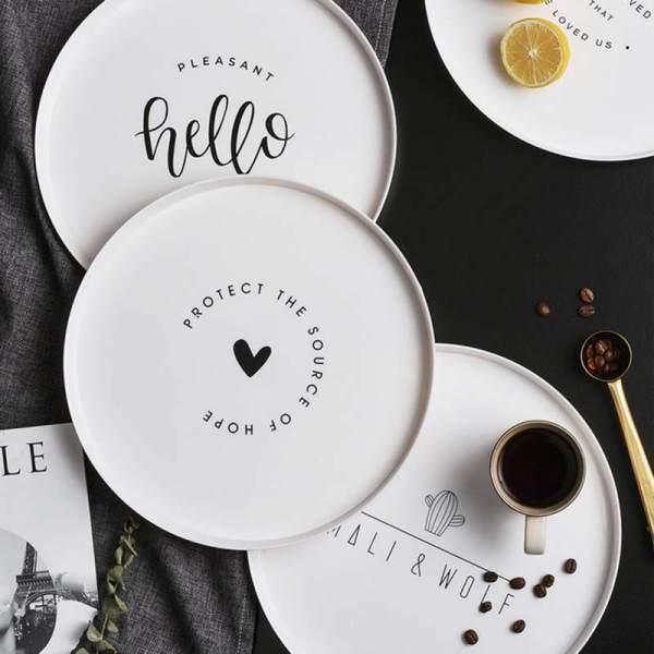 Round Plastic Breakfast Plate Fruit Tray