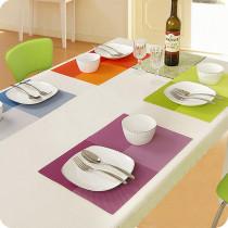 Rectangle Plaids Ombre Color Waterproof Insulation PVC Placemats