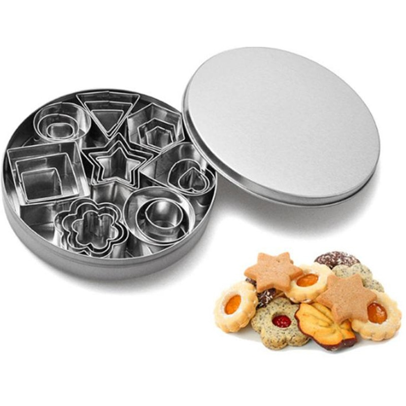 Stainless Steel Mini Cookie Cutter Biscuit Cookie Mold Baking Tools