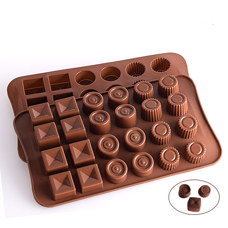 Silicone Mold Chocolate Fondant DIY Candy Bar Mould Cake Decoration Molds Tools