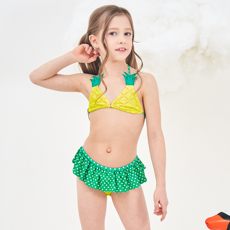 Toddle Kids Girls Pineapple Bikini Swimwear Sets