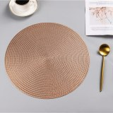 Round Hollow Out Waterproof Insulation PVC Placemats For Table
