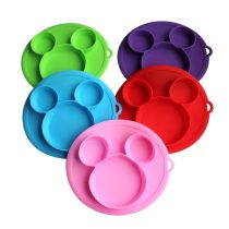 Children's dishes Baby Safe Silicone Suction Bowl Dining Plate Cartoon Baby Training Bowl