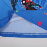 Kid Boys Print Spider Man Swimsuit Tow Pieces With Swim Cap