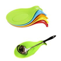 3 PCS Silicone Insulation Spoon Rest Heat Resistant Placemat Spoon Pad Eat Mat Pot Holder