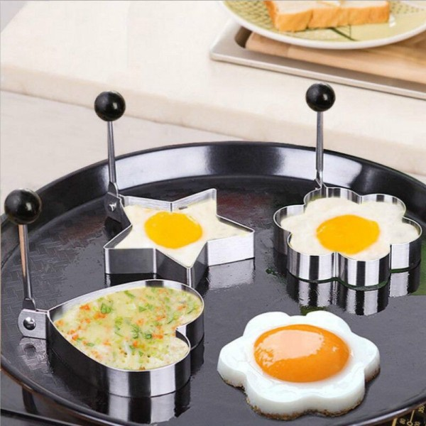 Stainless Steel Omelet Fried Egg Device Durable Molds Tool