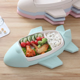 Creative Airplane Plate Baby Dishes Set Bamboo Fiber Plate Bowl Tableware Set Feeding Dishes