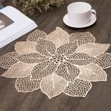 Multi-level Flower Hollow Out Waterproof Insulation PVC Placemats for Kitchen Dining Table