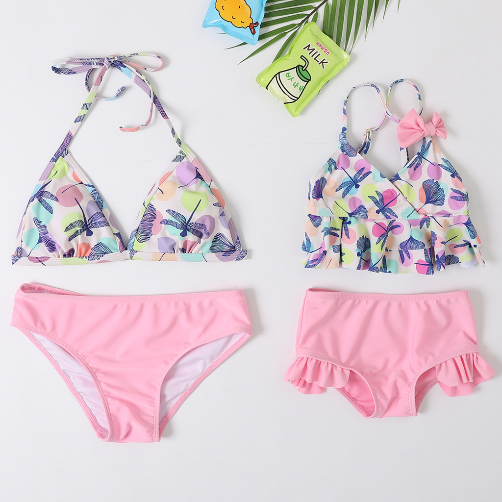 Mommy and Me Prints Dragonflies Bikini Sets Matching Swimwears