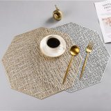Octagonal Hollow Heat-insulated Waterproof  PVC Placemat For Table