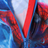 Kid Boys Print Spider Man Swimsuit With Swim Cap