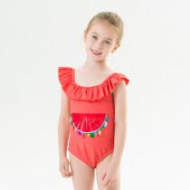 Toddle Kids Girls Print Watermelon Sequins Ruffles Swimsuit Swimwear