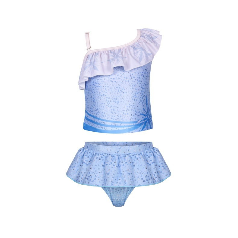 Toddle Kids Girls Print Frozen Elsa Princess Blue Bikinis Sets Swimwear
