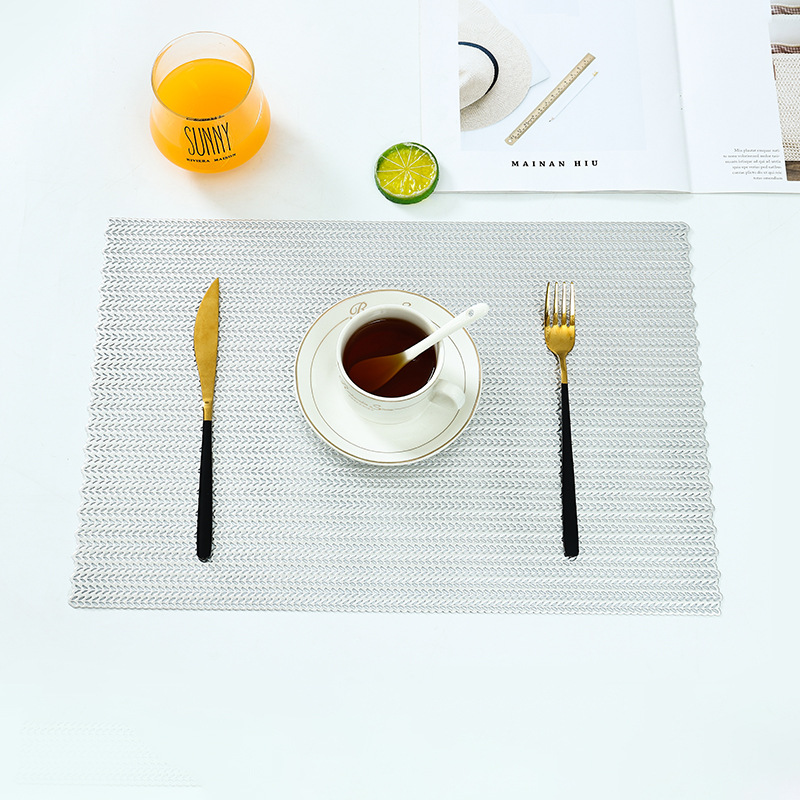 Rectangle Hollow Out Waterproof Insulation PVC Placemats