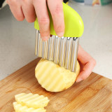 Vegetables Slicer Cutting Aid Holder Kitchen Tool