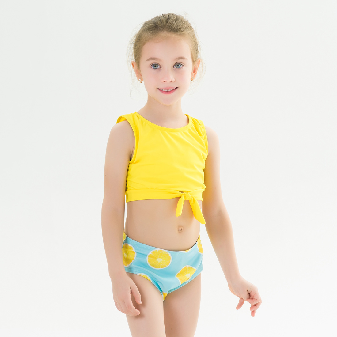 Toddle Kids Girls Prints Lemons Tow Pieces Swimwear