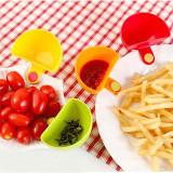 3PCS Assorted Seasoning Sugar Salad Tomato Paste Sauce Dishes Kitchen Clip Bowl Dip