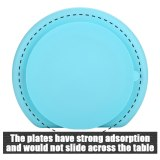 Baby Dishes Smiling Silicone Plate With Suction Cup Strong Sticky Divided Silicone Food Plate
