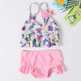 Mommy and Me Prints Dragonflies Bikini Sets Matching Swimwears