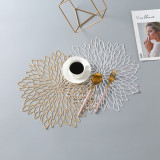 PVC Flower Geometry Hollow Insulation Coaster Pads Table Bowl Mat Resistant Placemat For Dining Table
