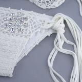 Women Swimsuit Crocheted Jewelry Tie Up Bikinis Sets Swimwear