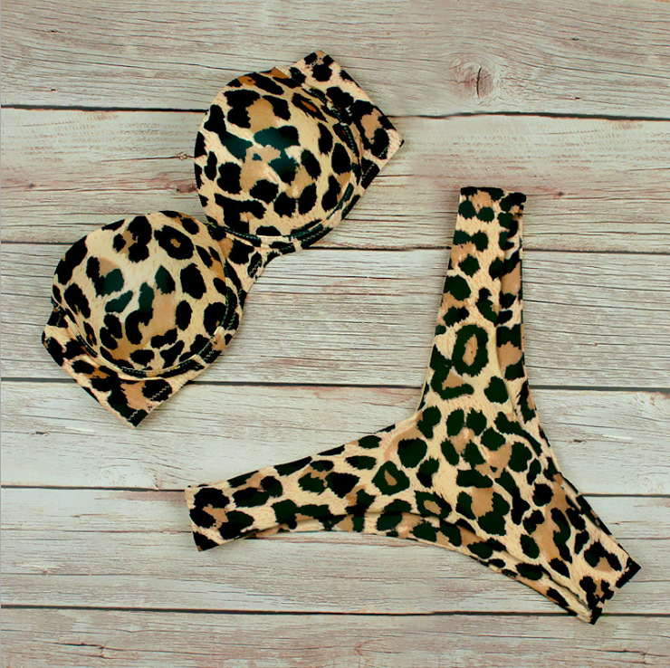 Women Swimsuit Leopard Print Steel Toby Tobe Top Bikinis Sets Swimwear
