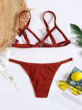 Women Swimsuit Bikinis Sets T-back Swimwear