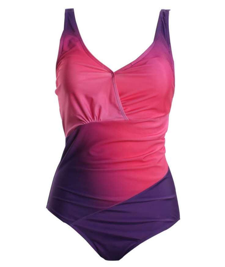 Women Swimsuit Ombre Color One Piece Swimwear