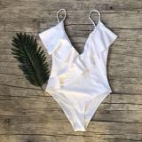 Women Swimsuit Ruffles V-neck One Piece Swimwear