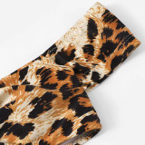 Women Swimsuit Off The Shoulder Leopard Print Bikinis Sets Swimwear