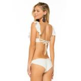 Women Bikinis Sets Ruffles Lace Up Swimsuit