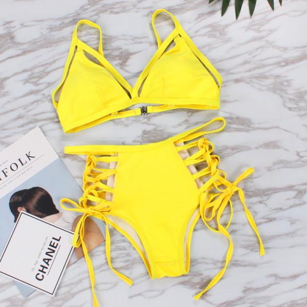 Women Swimsuit Lace Up Tie Up Bikinis Sets