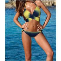 Women Swimsuit Ombre Cross Over Bikinis Sets Swimwear