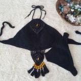 Women Swimsuit Hand Crocheted Tassels Beads Boho Bikinis Sets Swimwear