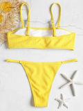 Women Swimsuit Tube Top T-back Bikinis Sets