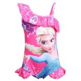 Toddle Kids Girls Print Frozen Princess Ruffles Swimsuit Swimwear