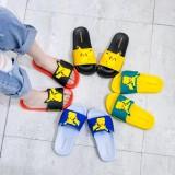 Toddlers Kids 3D Yellow Pikachu Flat Beach Home Summer Slippers