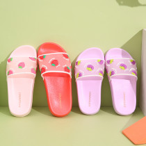 Toddlers Kids Red Strawberry Flat Beach Home Summer Slippers