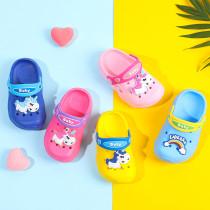 Toddlers Kids Rainbow Unicorn Beach Home Summer Slippers Shoes