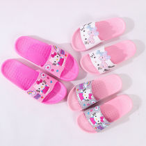 Toddlers Kids Rainbow Hello Kitty Flat Beach Home Summer Slippers