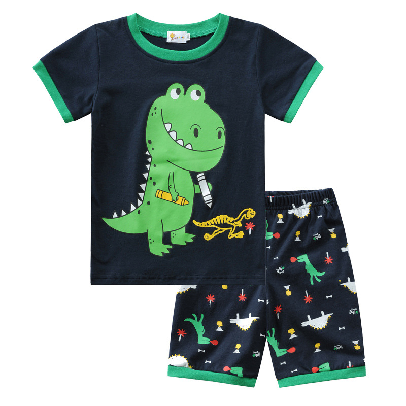 Toddler Kids Boy Prints Dinosaurs Summer Short Pajamas Sleepwear Set Cotton Pjs