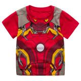 Toddler Kids Boy Iron Man Summer Short Pajamas Sleepwear Set Cotton Pjs