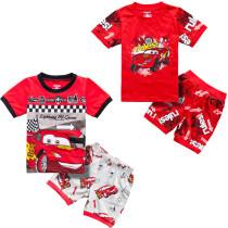 Toddler Kids Boy Red Racing Cars Summer Short Pajamas Sleepwear Set Cotton Pjs