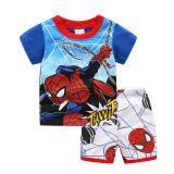Toddler Kids Boy Spider Man Slogan Summer Short Pajamas Sleepwear Set Cotton Pjs