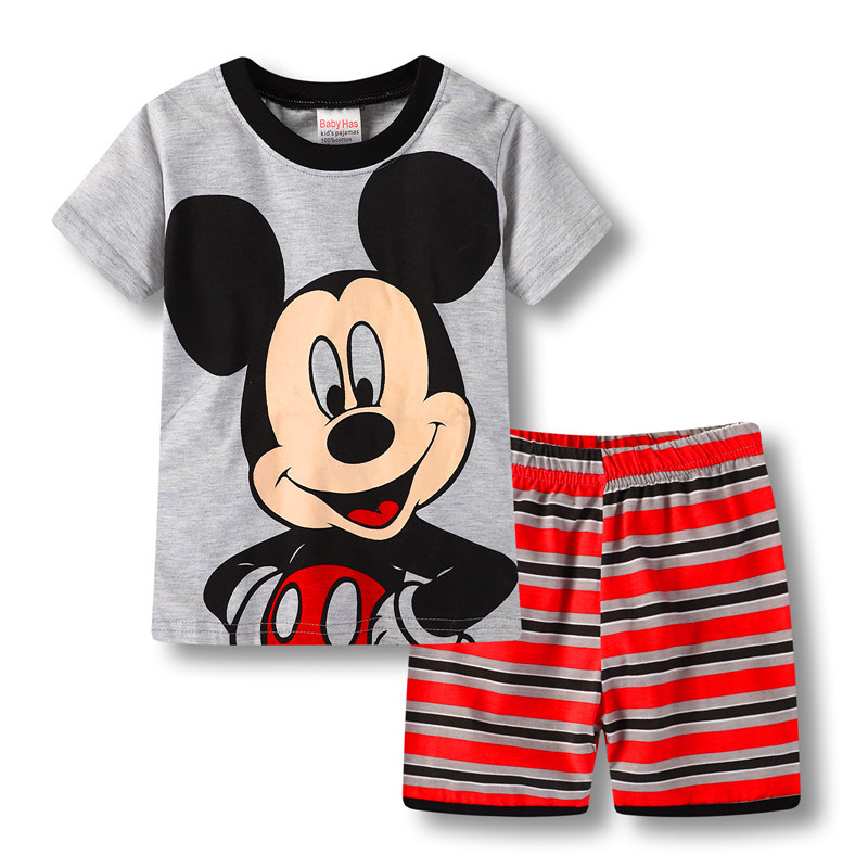Toddler Kids Boy Mickey Mouse Summer Short Pajamas Sleepwear Set Cotton Pjs
